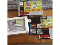 Super Nintendo buster busts loose! Complete boxed