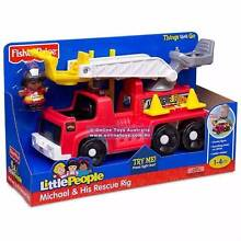 FISHER PRICE - LITTLE PEOPLE - MICHAEL & HIS RESCUE RIG Docklands Melbourne City Preview
