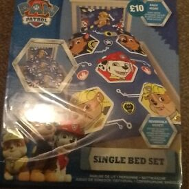 New paw patrol single bed set