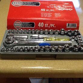 40 Piece socket set NEW