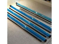 DIAWA fishing pole sections 4 X Top 4 kits Brand New in Tubes.