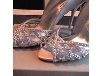 Dune Silver Shoes and Handbag
