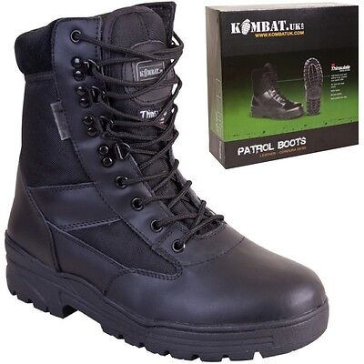 CLEARANCE ARMY CADET BOOTS MENS BOYS UK 9 UK 10 WORKWEAR FOOTWEAR BLACK POLICE](Clearance Combat Boots)