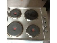 Electric hob stainless steel with 4 solid hot plates. Good condition stainless steel