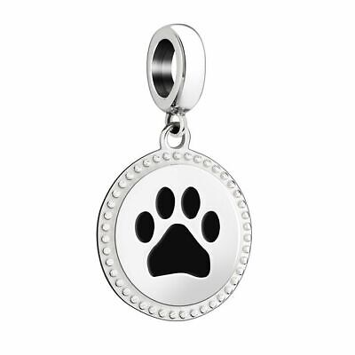 Chamilia PAW ANIMAL PRINT Sterling Silver Charm  Chamilia Jewelry Animal Beads