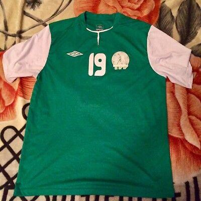 Turkmenistan National Football Team Jersey Matchworn umbro 2014 green white image