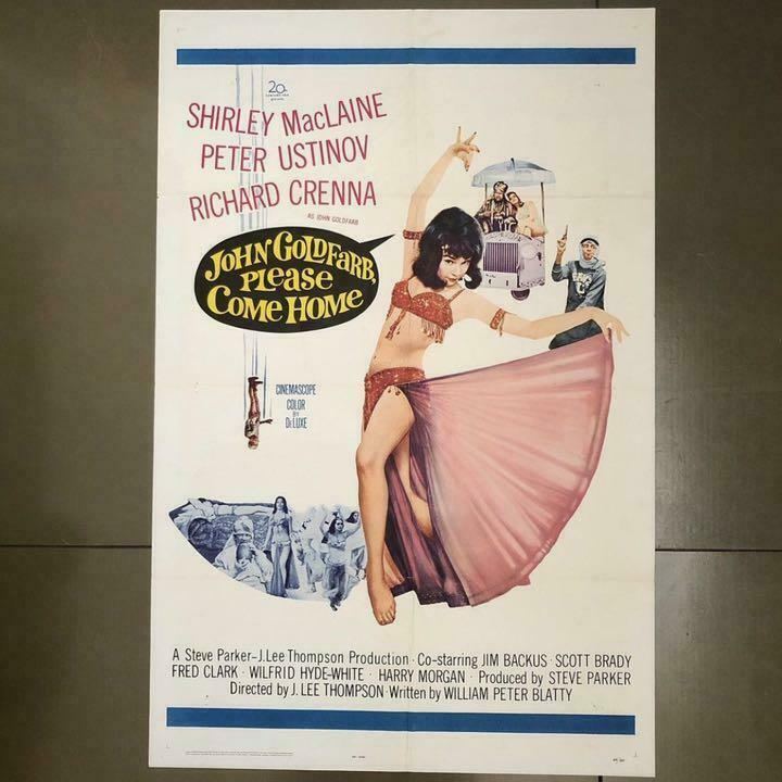 JOHN GOLDFARB,PLEASE COME HOME Movie Poster 1964 Vintage Height 27in Used