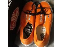 New in box Vans shoes Orange size 10