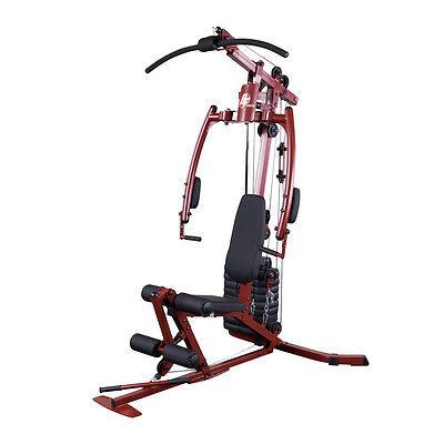 Best Fitness Sportsman Home Gym BFMG20 - Compact Cable Weight Machine Red (Best Cable Home Gym)