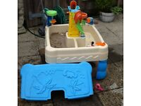 little tikes sand and water play with lots of items included only one year old so vgc