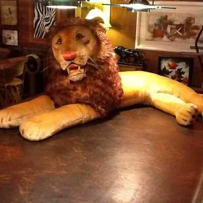 "RARE!! LARGEST STEIFF (63"") ""LEO"" THE LION"