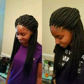 Boxbraids twists cornrows crochetbraids treebraids from £40