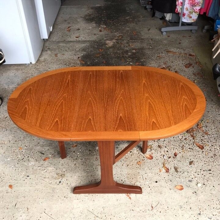 Parker Knoll Small Teak Oval Dropleaf Coffee Table | in ...