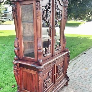 Large ornate display cabinet
