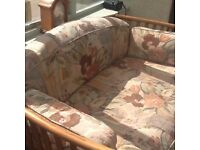 Very good condition Ercol 2 seater sofa and chair. Suitable for lounge or conservatory