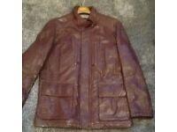 Mens Hugo boss brown leather jacket