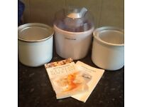 Andrew James ice cream maker and extra bowl and recipie book