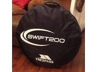 Brand new trespass swift 200 pop up tent 2 person never used