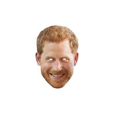 Prinz Harry mit Bart Offizielle Promi Gesichtsmaske Royal Family Kostüm (Royal Herren Maske)