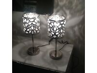 2 NEXT CHROME TABLE LAMPS 2 FOR £20