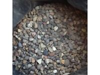 20 Rubble sacks of 20mm pea gravel in great condition