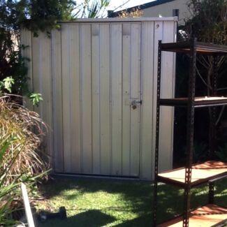 zincalume garden shed plus shelving units - Garden Sheds Brisbane