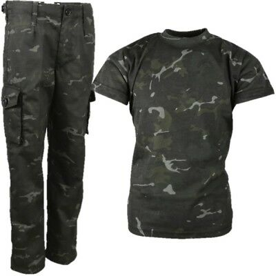 BOYS ARMY SOLDIER COSTUME T-SHIRT & TROUSERS OUTFIT - Kinder Army Outfits