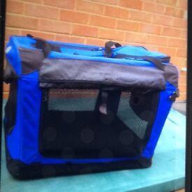 Easy pet dog transporter blue and black