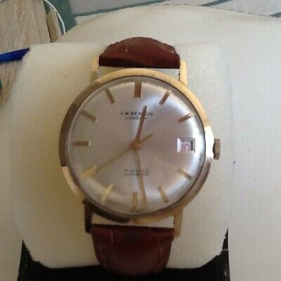 J W Benson London 9k Solid Gold Vintage Manual Gentlemans Timepiece. for sale  Shipping to Ireland