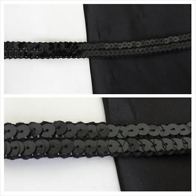 Wholesale Tulle Rolls (wholesale roll of 72 yards of black flat sequins tull 2 rows trim 5/8