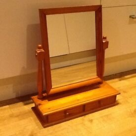 Solid wooden dressing table mirror