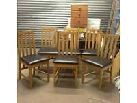 £110 - 6 Ascot Chocolate Dining Chairs - new and unused - delivery available