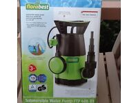 SUBMERSILBE WATER PUMP FOR PONDS, BRAND NEW. FLORABEST FTP4000 D3