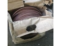 Brown electrical wire