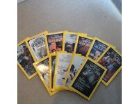 National Geographic magazines in good condition.