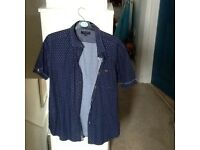 2 designer shirts,Ted Baker and Timberland,both nearly new,sizeL,ab bargain at £7 the pair,loc deliv