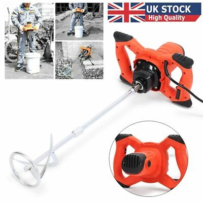 Paddle Mixer Electric Plaster Cement Mixing Paint Stirrer Plastering Whisk 1500W