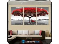 RED TREE WALL CANVAS