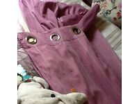 Gorgeous satin stripe pink curtains next