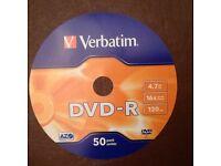 Verbatim DVD-R 25-off Blank Discs 16x 4.7GB 120min 25 DISCS ONLY