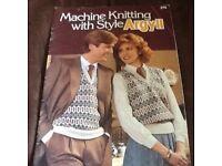 Machine knitting with style argyll
