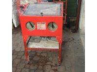 Power King sandblast cabinet,can be bench mounted
