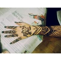 beautiful henna/temporary tattoos