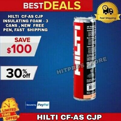 Hilti Cf-as Cjp Insulating Foam - 3 Cans New Free Pen Fast Shipping
