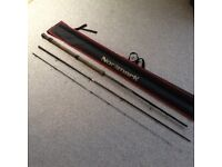 Team Normark 11ft multi tip quiver fishing rod with one tip and carry bag,hardly used