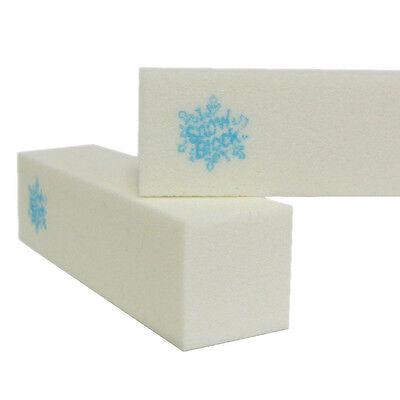 White Four-Sided Buffer SnowBlock Manicure Block Beauty Salon Spa Nail Files