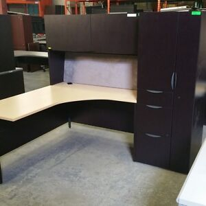 Used - L-shaped Desk With Hutch  - #6526