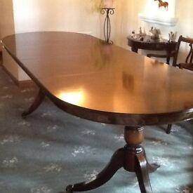 Beautiful mahogany twin pedestal dining table.
