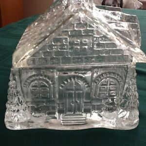 1930's  Celebrate crystal glass candy house dish, like new.