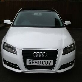 2010/60 Audi A3 2.0 Sport TDi 5/door manual. Full panoramic roof,alloys, A/C, electrics, F.S.H.